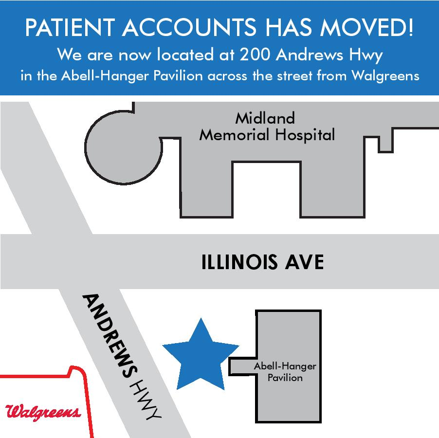 patient accounts has moved map